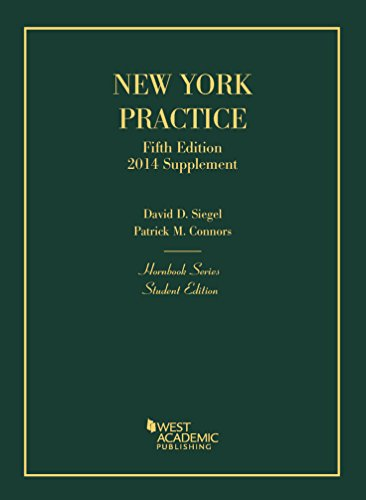 9781628101416: New York Practice, 5th, Student Edition, 2014 Supplement (Hornbook Series)