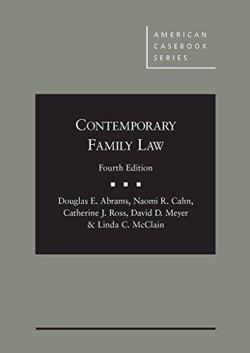 9781628101652: Contemporary Family Law (American Casebook Series)