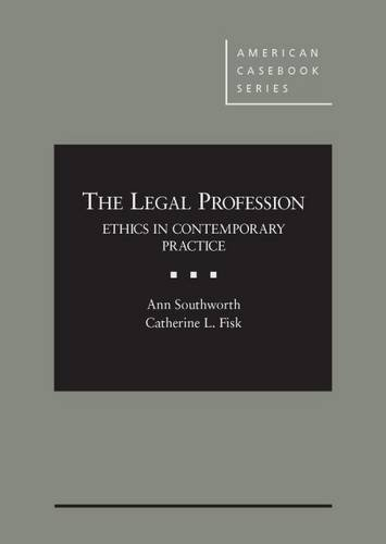 9781628101720: The Legal Profession (American Casebook Series)