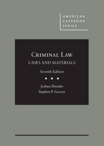 9781628102055: Cases and Materials on Criminal Law (American Casebook Series)