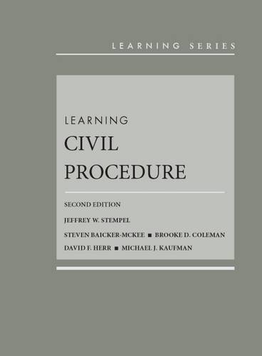 9781628102697: Learning Civil Procedure (Learning Series)
