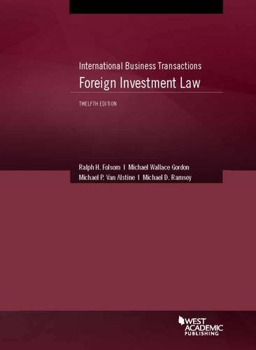 9781628104301: International Business Transactions: Foreign Investment (American Casebook Series)