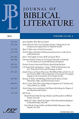 Journal of Biblical Literature 133.2, 2014 (Paperback)