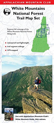 9781628420777 Amc White Mountains National Forest Trail Map Set Appalachian Mountain Club White Mountain