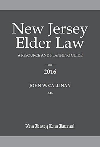 9781628810165: New Jersey Elder Law 2016