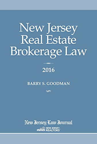 9781628810479: New Jersey Real Estate Brokerage Law 2016