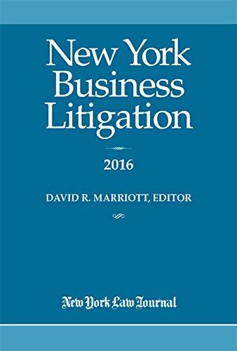 9781628810516: New York Business Litigation 2016