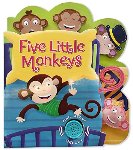 Heads, Tails, Noses with Sound Five Little Monkeys: Kidsbooks