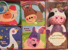 9781628850321: Deluxe Baby Gift Set Farm Friends (4bks and plush)