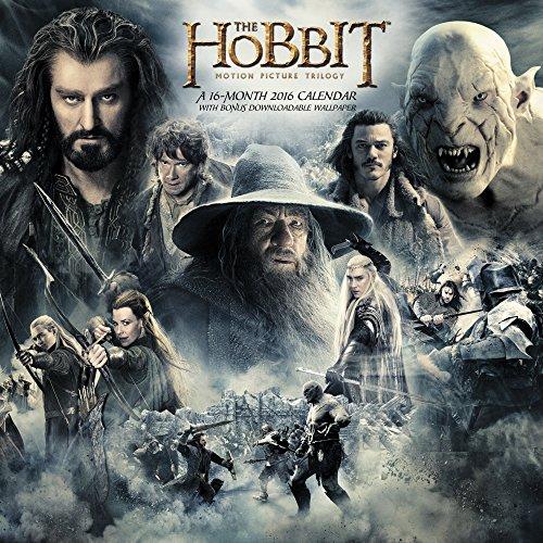 9781629052113: The Hobbit Motion Picture Trilogy 2016 Calendar: Includes Bonus Downloadable Wallpaper