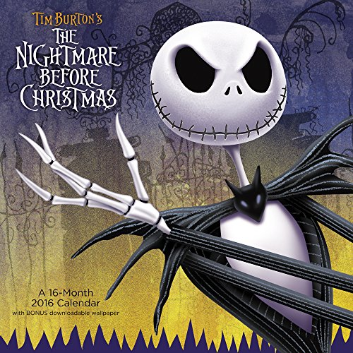 9781629052182: Tim Burton's the Nightmare Before Christmas 2016 Calendar: Free Downloadable Wallpaper Included