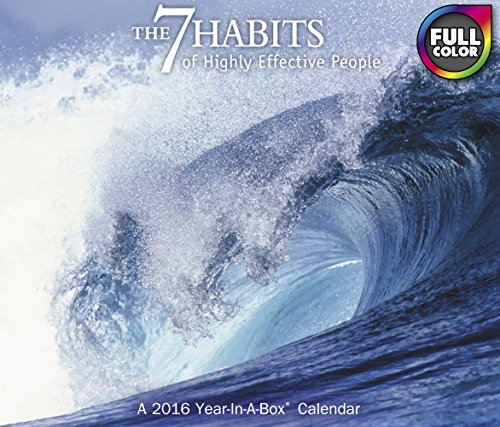 9781629054360: The 7 Habits of Highly Effective People Year-In-A-Box Calendar (2016)