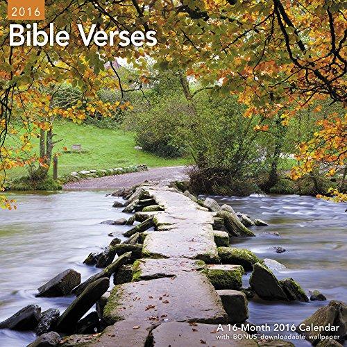 9781629054506: Bible Verses Wall Calendar (2016)