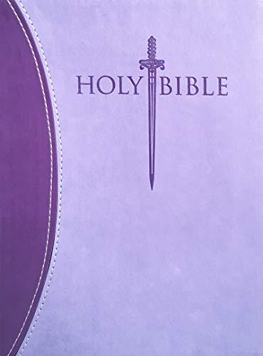 KJVER Thinline Bible/Large Print-Purple/Purple Ultrasoft: Whitaker House
