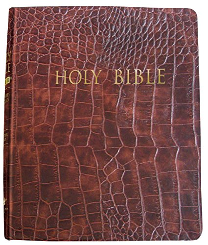 9781629114590: KJVER Thinline Bible/Large Print-Walnut Alligator Bonded Leather Indexed