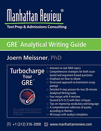 9781629260082: Manhattan Review GRE Analytical Writing Guide: Answers to Real AWA Topics