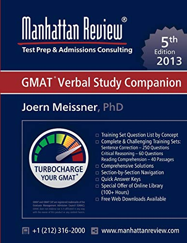 9781629260167: Manhattan Review GMAT Verbal Study Companion [5th Edition]