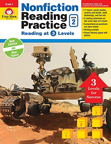 9781629383163: Nonfiction Reading Practice, Grade 2: Reading at 3 Levels