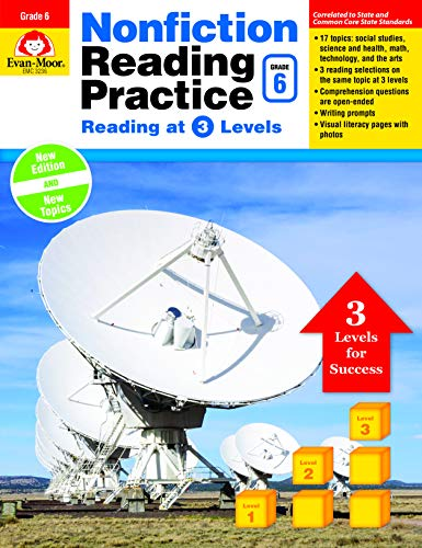 9781629383200: Nonfiction Reading Practice, Grade 6