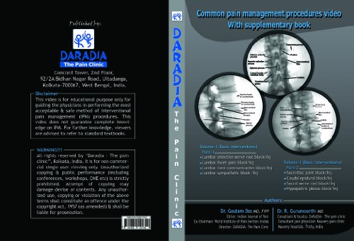 9781629511740: Common Pain Management Procedures- Video Book with Supplimentary Text Book, Vol-1