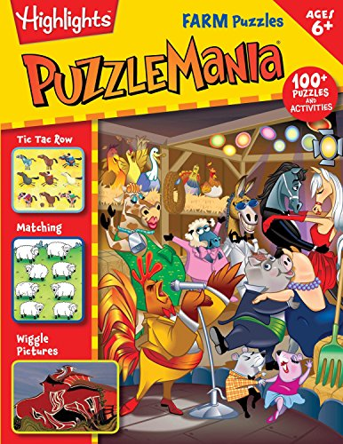 9781629792026: Farm Puzzles (Highlights(TM) Puzzlemania® Activity Books)