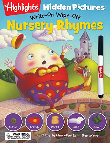 9781629794181: Nursery Rhymes (Highlights™ Write-On Wipe-Off Hidden Pictures®)