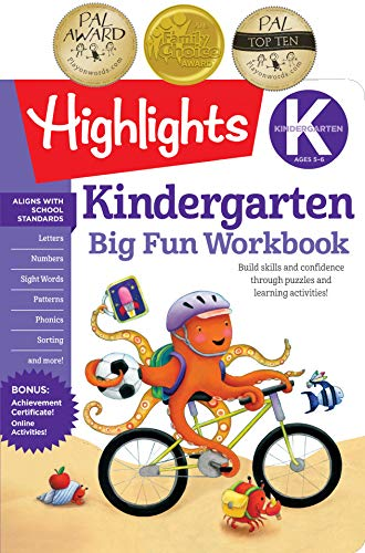 9781629797632: The Big Fun Kindergarten Activity Book: Build skills and confidence through puzzles and early learning activities! (Highlights (TM) Big Fun Activity Workbooks)