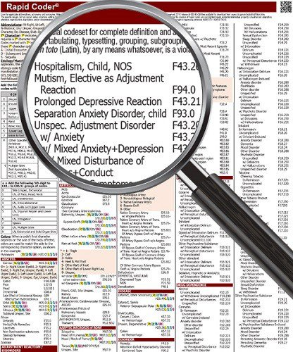 9781630129583: ICD 10 Codes Quick Reference Charts for Optometry Coding 2017