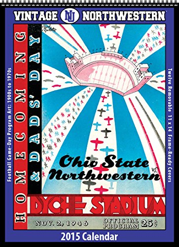 9781630360504: Northwestern Wildcats 2015 Vintage Football Calendar