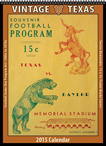 9781630360702: Texas Longhorns 2015 Vintage Football Calendar