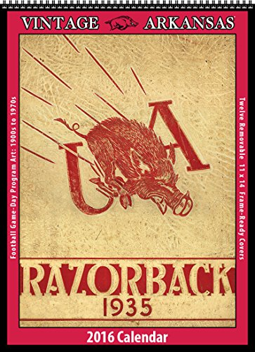 9781630361426: Arkansas Razorbacks 2016 Vintage Football Calendar