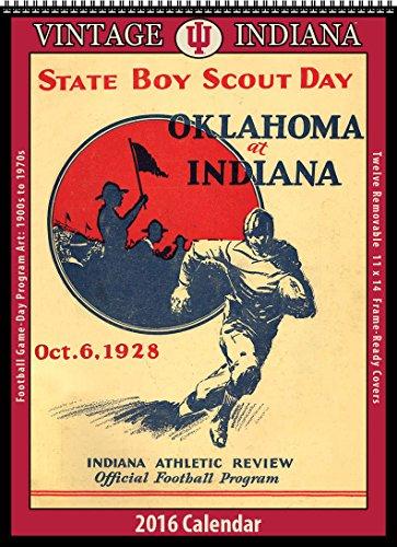 9781630361662: Indiana Hoosiers 2016 Vintage Football Calendar