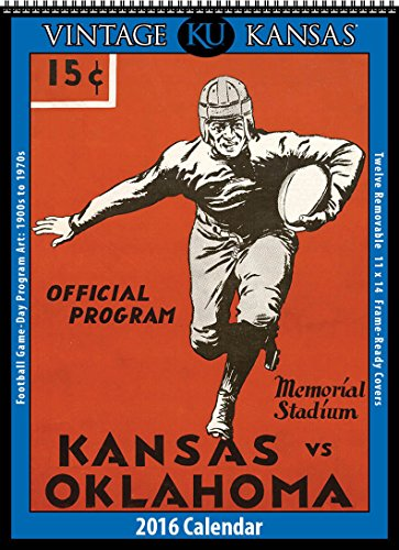 9781630361686: Kansas Jayhawks 2016 Vintage Football Calendar