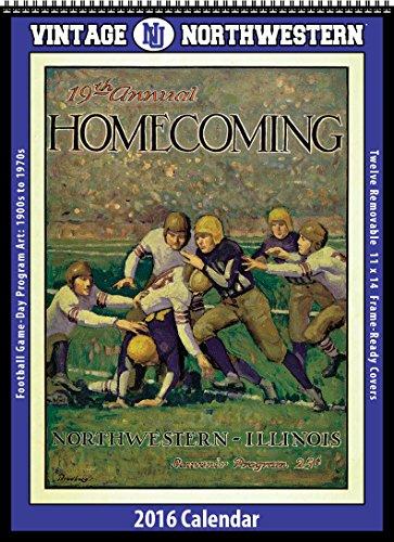 9781630361853: Northwestern Wildcats 2016 Vintage Football Calendar