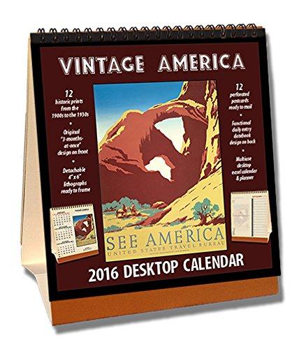 9781630362232: Vintage America 2016 Desktop Calendar