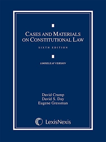 9781630430573: Cases and Materials on Constitutional Law (2014 Loose-leaf version)