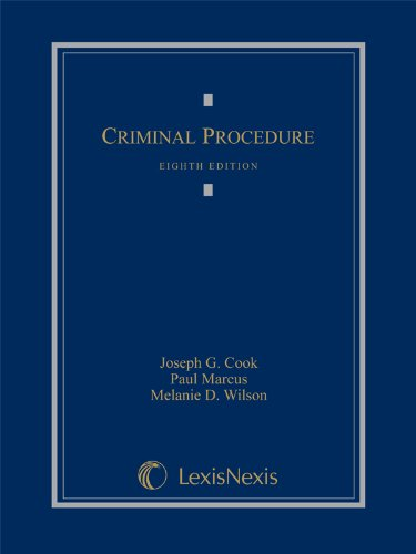 Criminal Procedure (2014 Loose-leaf version): Cook, Joseph G.;