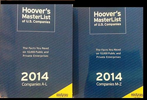 Hoover's MasterList of U.S. Companies 2014 (Hoover's Masterlist of Major Us Companies)
