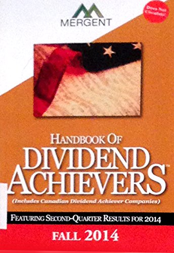 9781630530662: Handbook of Dividend Achievers - Fall Edition