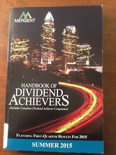 9781630533908: Handbook of Dividend Achievers - Summer Edition