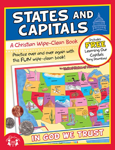 9781630588298: States and Capitals Christian Wipe-Clean Workbook (Let's Do It Again! Workbooks)