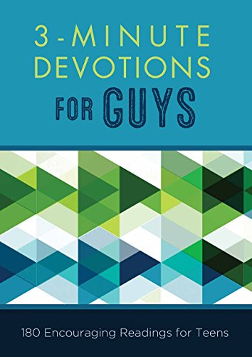9781630588571: 3-Minute Devotions for Guys: 180 Encouraging Readings for Teens