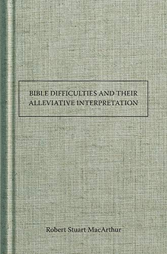 9781630700386: Bible Difficulties and Their Alleviative Interpretation