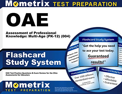 9781630944247: OAE Assessment of Professional Knowledge: Multi-Age (PK-12) (004) Flashcard Study System: OAE Test Practice Questions & Exam Review for the Ohio Assessments for Educators (Cards)