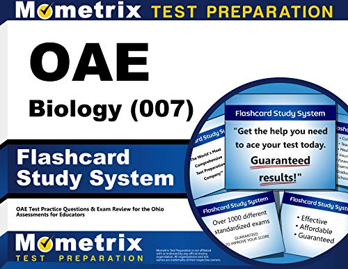 9781630944308: OAE Biology (007) Flashcard Study System: OAE Test Practice Questions & Exam Review for the Ohio Assessments for Educators (Cards)