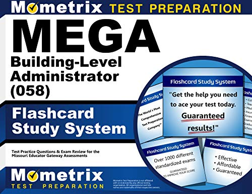 9781630949044: MEGA Building-Level Administrator (058) Flashcard Study System: MEGA Test Practice Questions & Exam Review for the Missouri Educator Gateway Assessments
