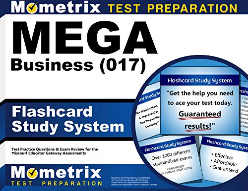 9781630949068: MEGA Business (017) Flashcard Study System: MEGA Test Practice Questions & Exam Review for the Missouri Educator Gateway Assessments