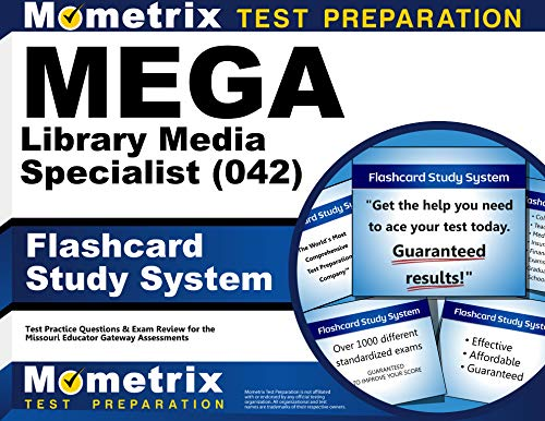 9781630949174: MEGA Library Media Specialist (042) Flashcard Study System: MEGA Test Practice Questions & Exam Review for the Missouri Educator Gateway Assessments