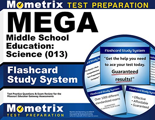 9781630949235: MEGA Middle School Education: Science (013) Flashcard Study System: MEGA Test Practice Questions & Exam Review for the Missouri Educator Gateway Assessments