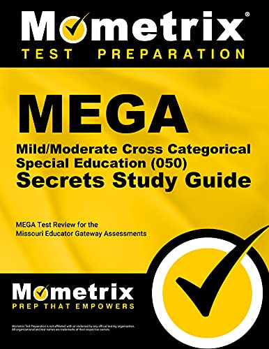 9781630949594: MEGA Mild/Moderate Cross Categorical Special Education (050) Secrets Study Guide: MEGA Test Review for the Missouri Educator Gateway Assessments